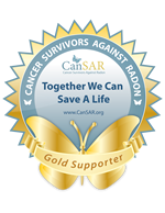 gold supporter of CanSAR Cancer Survivors Against Radon